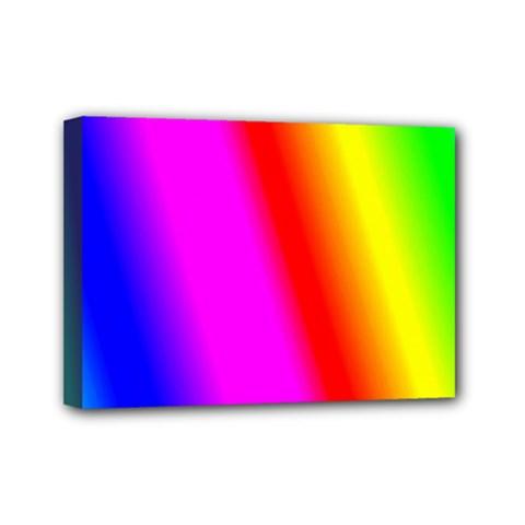 Multi Color Rainbow Background Mini Canvas 7  X 5  by Amaryn4rt
