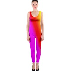 Multi Color Rainbow Background Onepiece Catsuit by Amaryn4rt