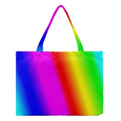 Multi Color Rainbow Background Medium Tote Bag by Amaryn4rt