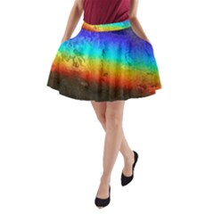 Rainbow Color Prism Colors A Line Pocket Skirt by Amaryn4rt