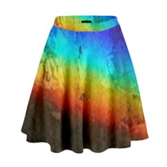 Rainbow Color Prism Colors High Waist Skirt by Amaryn4rt