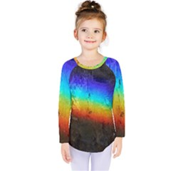 Rainbow Color Prism Colors Kids  Long Sleeve Tee by Amaryn4rt