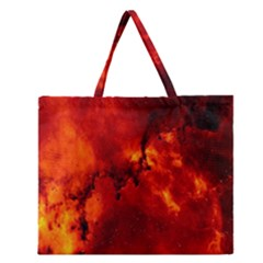 Star Clusters Rosette Nebula Star Zipper Large Tote Bag by Amaryn4rt