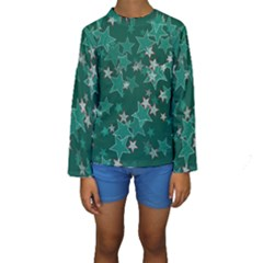 Star Seamless Tile Background Abstract Kids  Long Sleeve Swimwear by Amaryn4rt