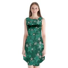 Star Seamless Tile Background Abstract Sleeveless Chiffon Dress   by Amaryn4rt