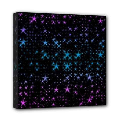 Stars Pattern Seamless Design Mini Canvas 8  X 8  by Amaryn4rt