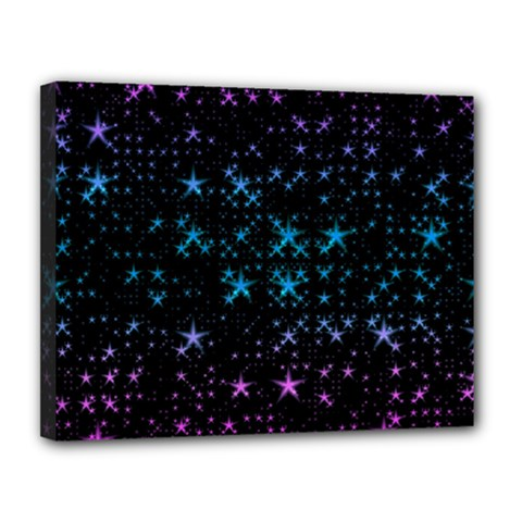 Stars Pattern Seamless Design Canvas 14  X 11  by Amaryn4rt