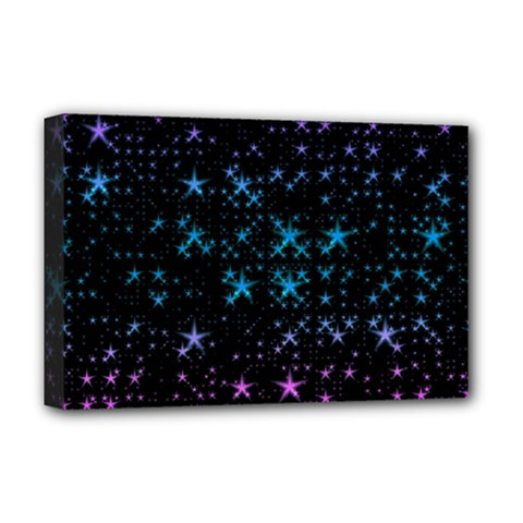 Stars Pattern Seamless Design Deluxe Canvas 18  X 12   by Amaryn4rt