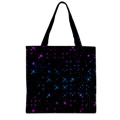 Stars Pattern Seamless Design Zipper Grocery Tote Bag by Amaryn4rt