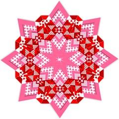 Valentine Heart Love Pattern Straight Umbrellas by Amaryn4rt