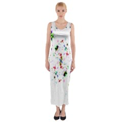 Star Structure Many Repetition Fitted Maxi Dress by Amaryn4rt