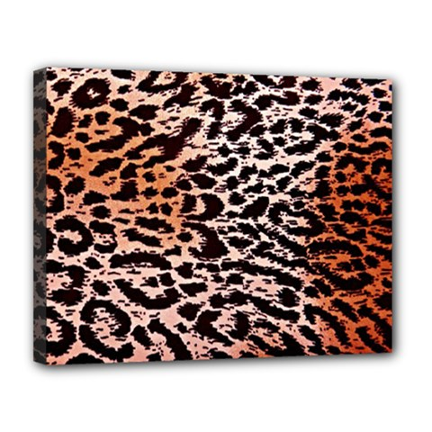 Tiger Motif Animal Canvas 14  X 11  by Amaryn4rt