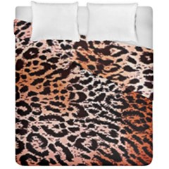 Tiger Motif Animal Duvet Cover Double Side (california King Size) by Amaryn4rt