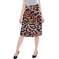 Tiger Motif Animal Midi Beach Skirt