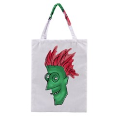 Crazy Man Drawing  Classic Tote Bag
