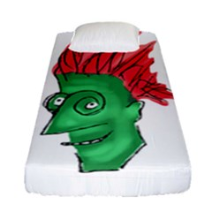 Crazy Man Drawing  Fitted Sheet (single Size)