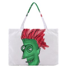 Crazy Man Drawing  Medium Zipper Tote Bag