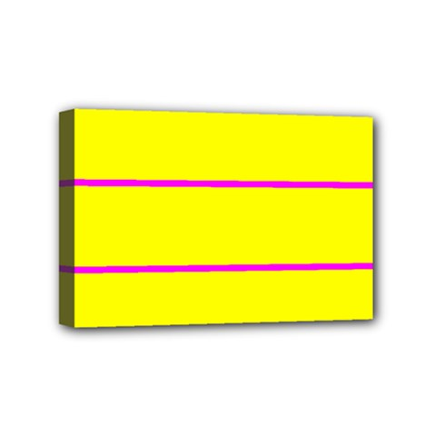 Background Image Horizontal Lines And Stripes Seamless Tileable Magenta Yellow Mini Canvas 6  X 4