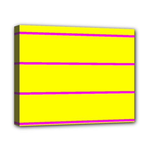 Background Image Horizontal Lines And Stripes Seamless Tileable Magenta Yellow Canvas 10  X 8