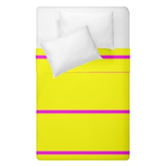 Background Image Horizontal Lines And Stripes Seamless Tileable Magenta Yellow Duvet Cover Double Side (single Size) by Amaryn4rt