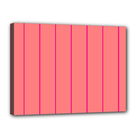 Background Image Vertical Lines And Stripes Seamless Tileable Deep Pink Salmon Canvas 16  X 12  by Amaryn4rt