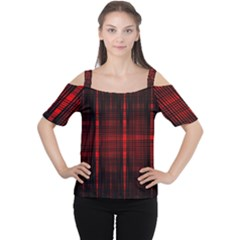 Black And Red Backgrounds Women s Cutout Shoulder Tee