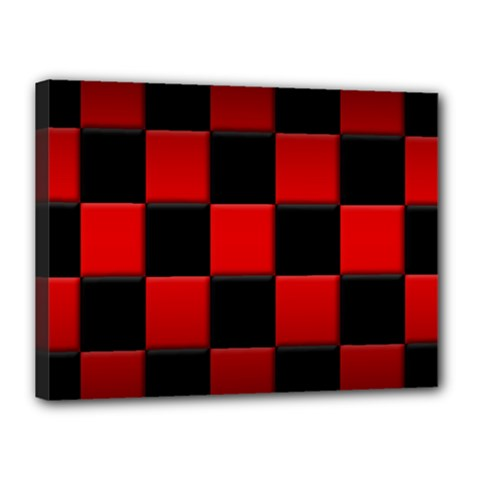 Black And Red Backgrounds Canvas 16  X 12  by Amaryn4rt