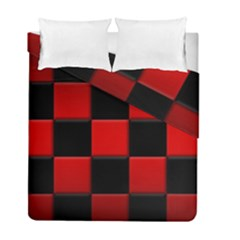 Black And Red Backgrounds Duvet Cover Double Side (Full/ Double Size) by Amaryn4rt