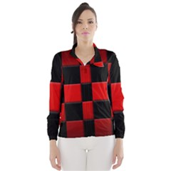 Black And Red Backgrounds Wind Breaker (women) by Amaryn4rt