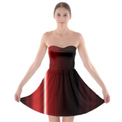 Black And Red Strapless Bra Top Dress