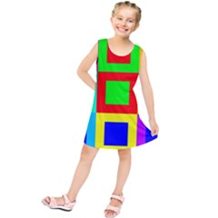 Colors Purple And Yellow Kids  Tunic Dress