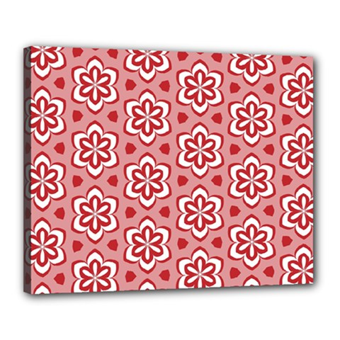 Floral Abstract Pattern Canvas 20  X 16  by Amaryn4rt