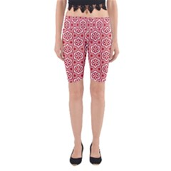 Floral Abstract Pattern Yoga Cropped Leggings