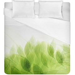 Green Leaves Pattern Duvet Cover (king Size) by Amaryn4rt