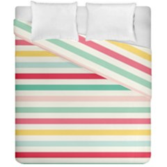 Papel De Envolver Hooray Circus Stripe Red Pink Dot Duvet Cover Double Side (california King Size) by Amaryn4rt