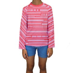 Index Red Pink Kids  Long Sleeve Swimwear by Amaryn4rt