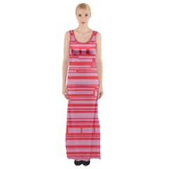 Index Red Pink Maxi Thigh Split Dress by Amaryn4rt