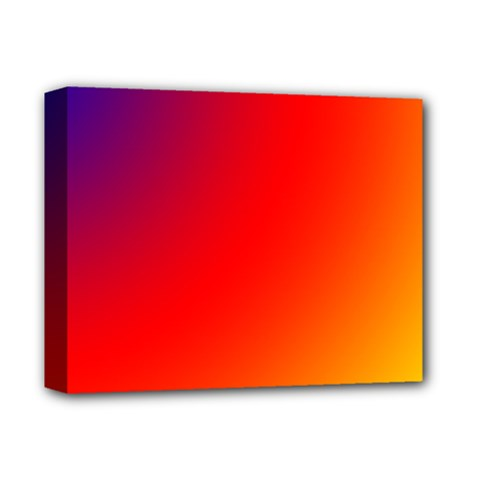 Rainbow Background Deluxe Canvas 14  X 11  by Amaryn4rt