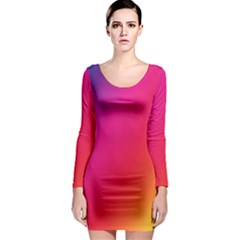 Rainbow Colors Long Sleeve Bodycon Dress by Amaryn4rt