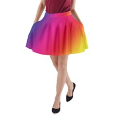 Rainbow Colors A-Line Pocket Skirt