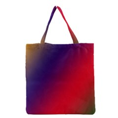 Rainbow Two Background Grocery Tote Bag by Amaryn4rt