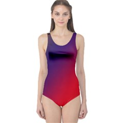 Rainbow Two Background One Piece Swimsuit