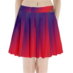 Rainbow Two Background Pleated Mini Skirt by Amaryn4rt