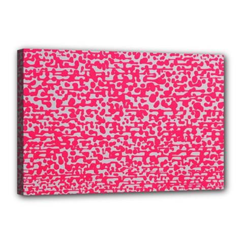 Template Deep Fluorescent Pink Canvas 18  X 12  by Amaryn4rt