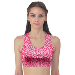 Template Deep Fluorescent Pink Sports Bra by Amaryn4rt