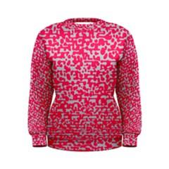 Template Deep Fluorescent Pink Women s Sweatshirt