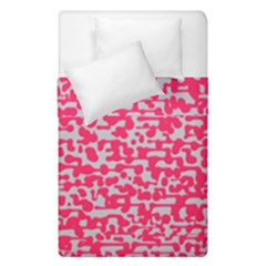 Template Deep Fluorescent Pink Duvet Cover Double Side (single Size) by Amaryn4rt