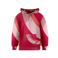 Red Material Design Kids  Zipper Hoodie