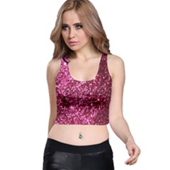 Pink Glitter Racer Back Crop Top