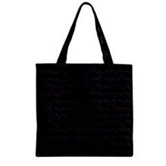 Smooth Color Pattern Zipper Grocery Tote Bag by Amaryn4rt